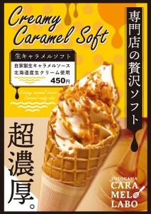 【横浜ハンマーヘッド店限定】超濃厚・生キャラメルソフト!