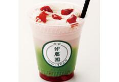 【2月限定】茶寮 伊藤園 横浜「抹茶と苺みるくのラテ」